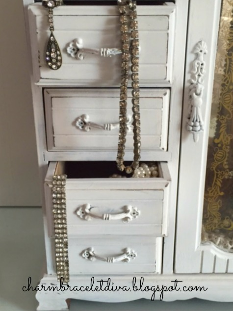 shabby chic jewelry storage
