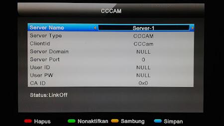 Cara Menampilkan Setting CCcam Matrix Sinema HD