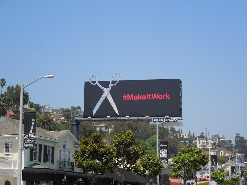 Project Runway Make It Work scissors billboard