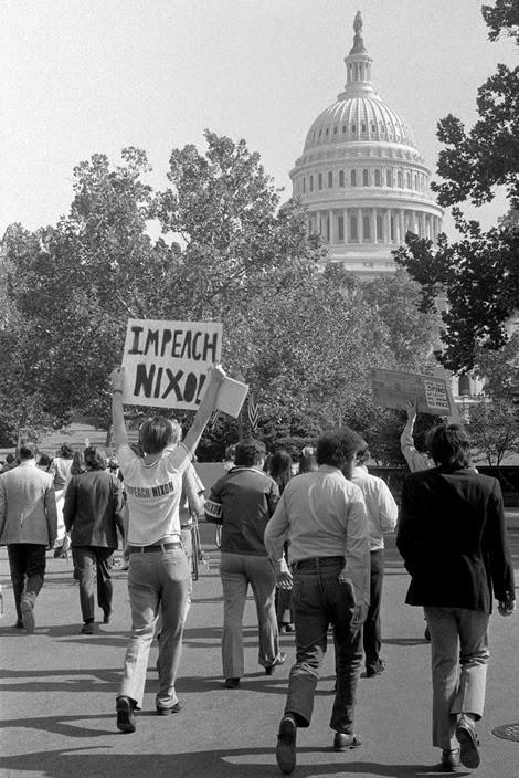 Protester: Impeach Nixon!