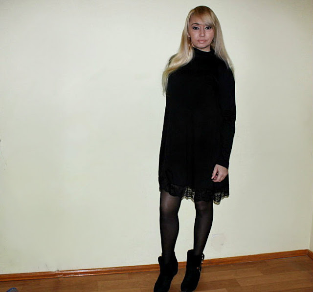 Shopping in Sammydress: Платье А-силуэта с кружевом / обзор