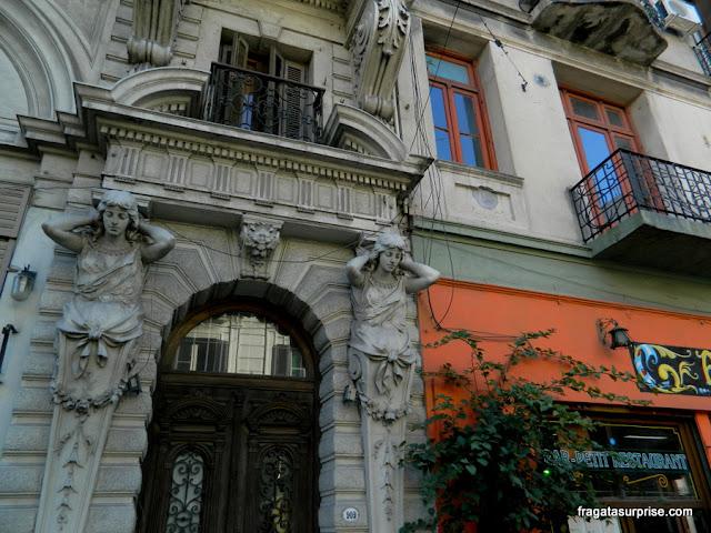 Fachada art nouveau em San Telmo, Buenos Aires