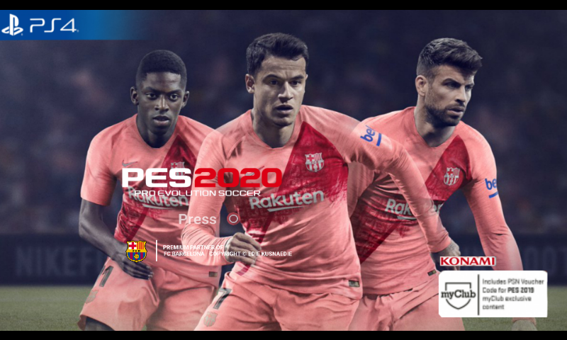 PES 2020 (PS4 Camera) ppsspp 500MB