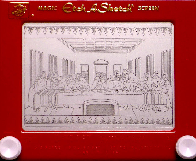 The Last Supper by Etch-A-Sketch artist Kevin E.Davis.