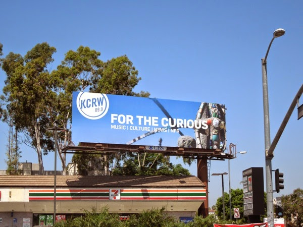 KCRW Radio For the curious Watts Towers billboard