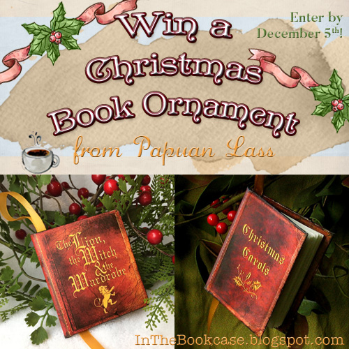 Win a Christmas book ornament from Papuan Lass on inthebookcase.blogpost.com