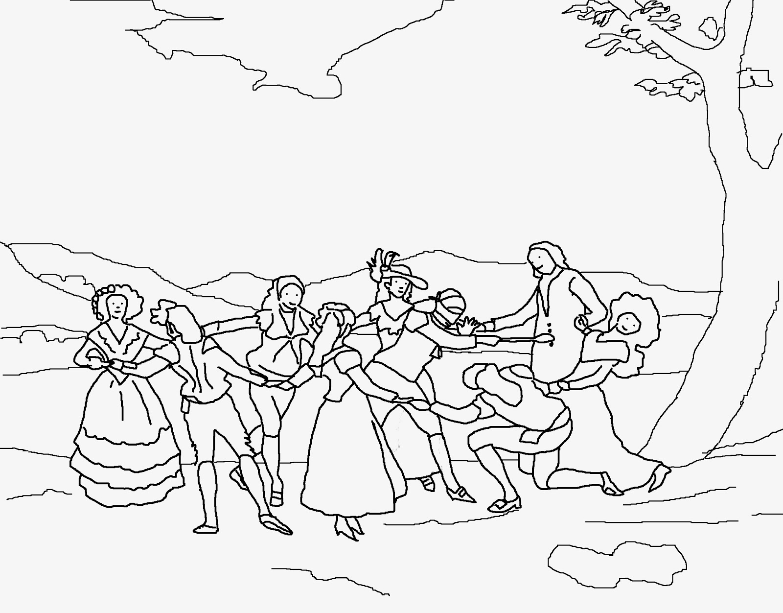 Arte para niños: Dibujos de Francisco de Goya para pintar y colorear