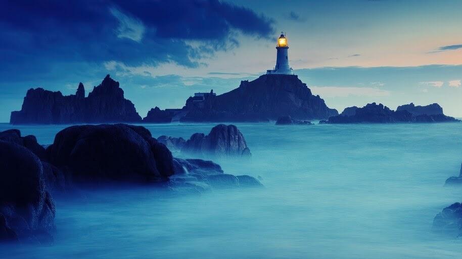 Lighthouse, Sea, Sunrise, Scenery, 4K, #6.944