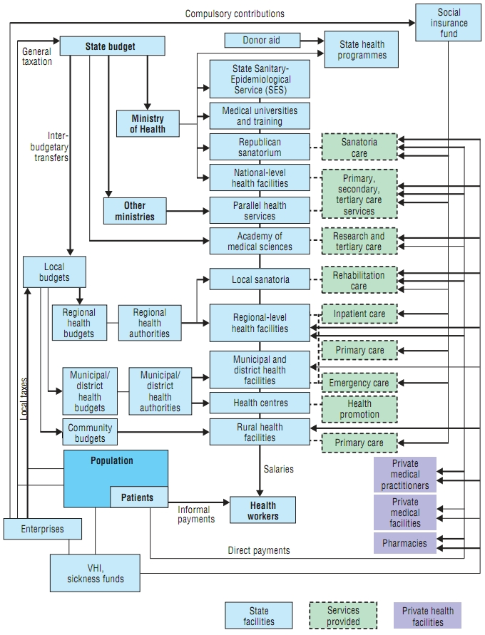 Ukraine Healthcare System Financial Flowchart Pharmaceutical