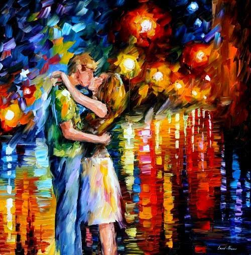 Amor - Pinturas de Leonid Afremov | O mestre da  espátula