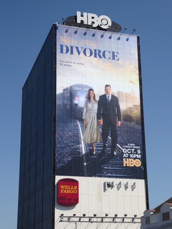 Giant Divorce series premiere billboard