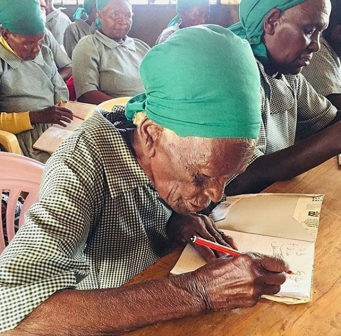 95-year-old kenyan woman enrolls in school to learn to read and write
