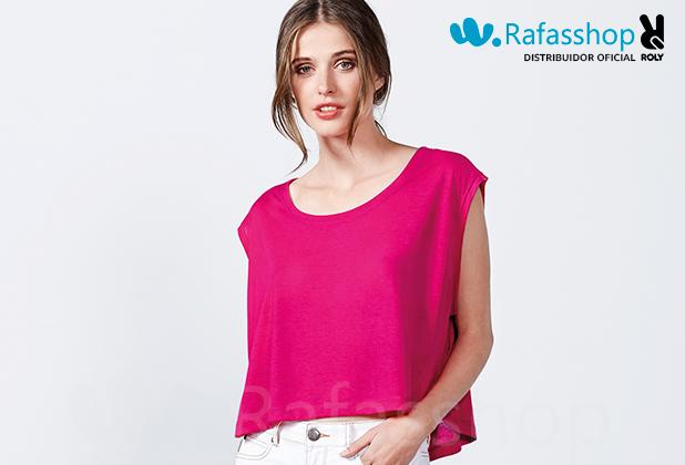 Camiseta Top Mara 7142 Roly Mujer Tirantes Talle Corto y Amplio estilo Oversize