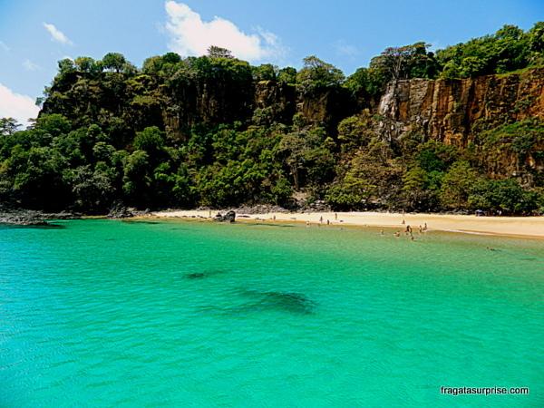 Passeio de barco pelo Mar de Dentro, Praia do Sancho, Fernando de Noronha