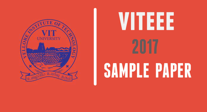 VITEEE entrance exam 2017 sample Paper