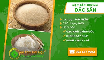 Đại lý bán buôn các loại gạo bắc hương tại Hải Hậu Nam Định