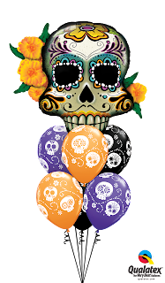 Day of the Dead Skull, Very Best Balloon Blog,