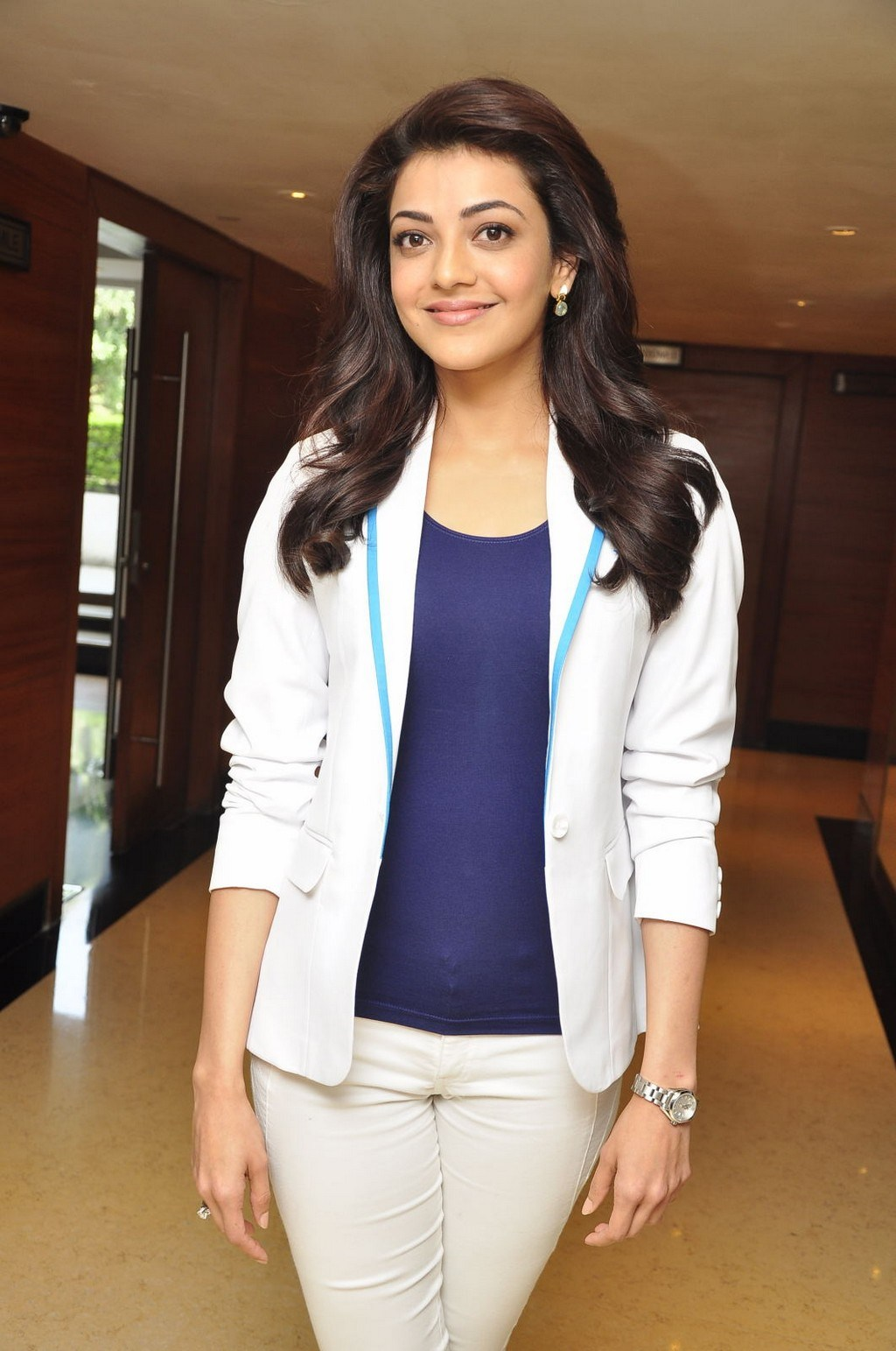 Kajal Aggarwal Latest Photos In White Shirt