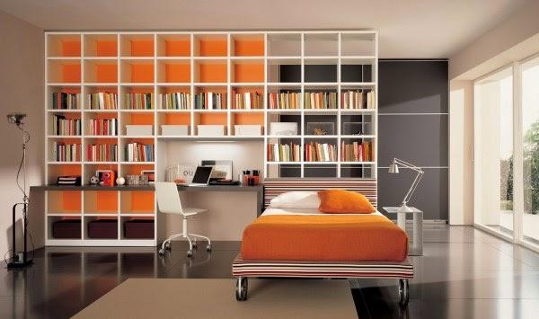 Contoh rak buku minimalis untuk rumah minimalis