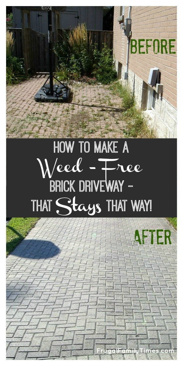 how to get rid of weeds between interlocking bricks