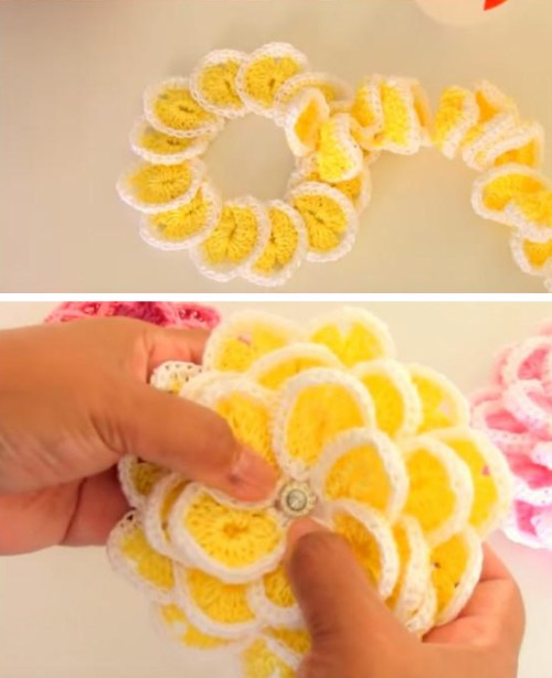 Crochet Single Strip Flower - Tutorial
