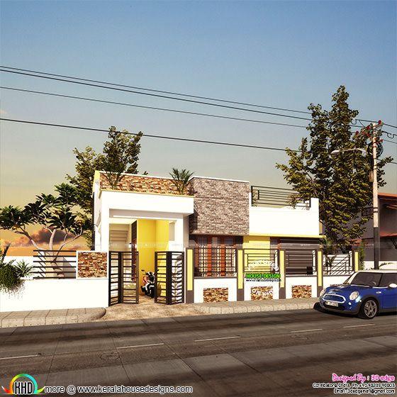 30x40 Single floor Kerala home