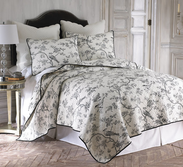 Black And White Cream Toile & Damask Comforters