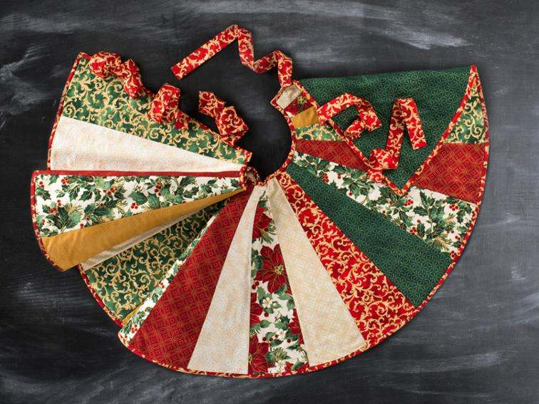 40 Tree Skirts Free Patterns To Sew Applegreen Cottage