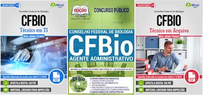 Apostila do concurso CFBio Técnico em Arquivo do Conselho Federal de Biologia.