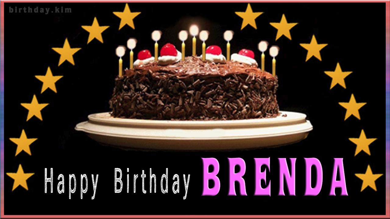 Happy Birthday Brenda Cake Happy Birthday Greeting Cards