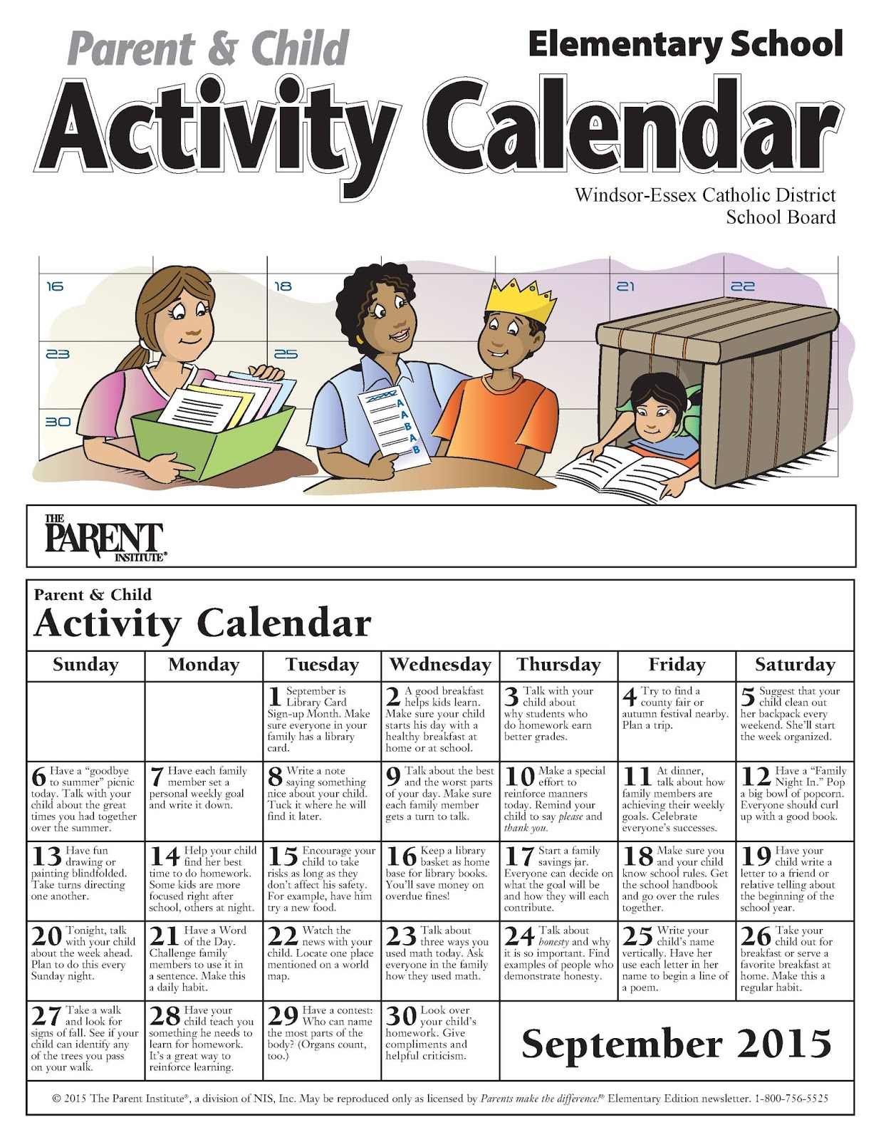 News And Events September Parent Amp Child