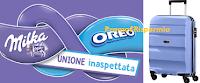 Logo Concorso ''Milka&Oreo'': vinci 60 kit composti ciascuno da 2 Trolley American Tourister