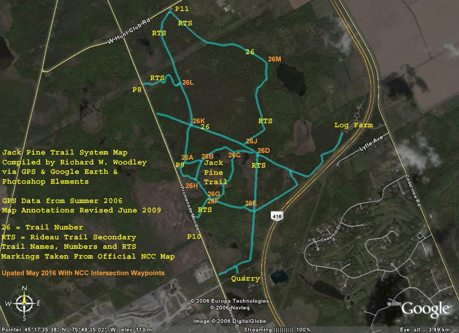 Richard 39 s gps trail maps jack pine trail 26 trail system - Pinne dive system ...