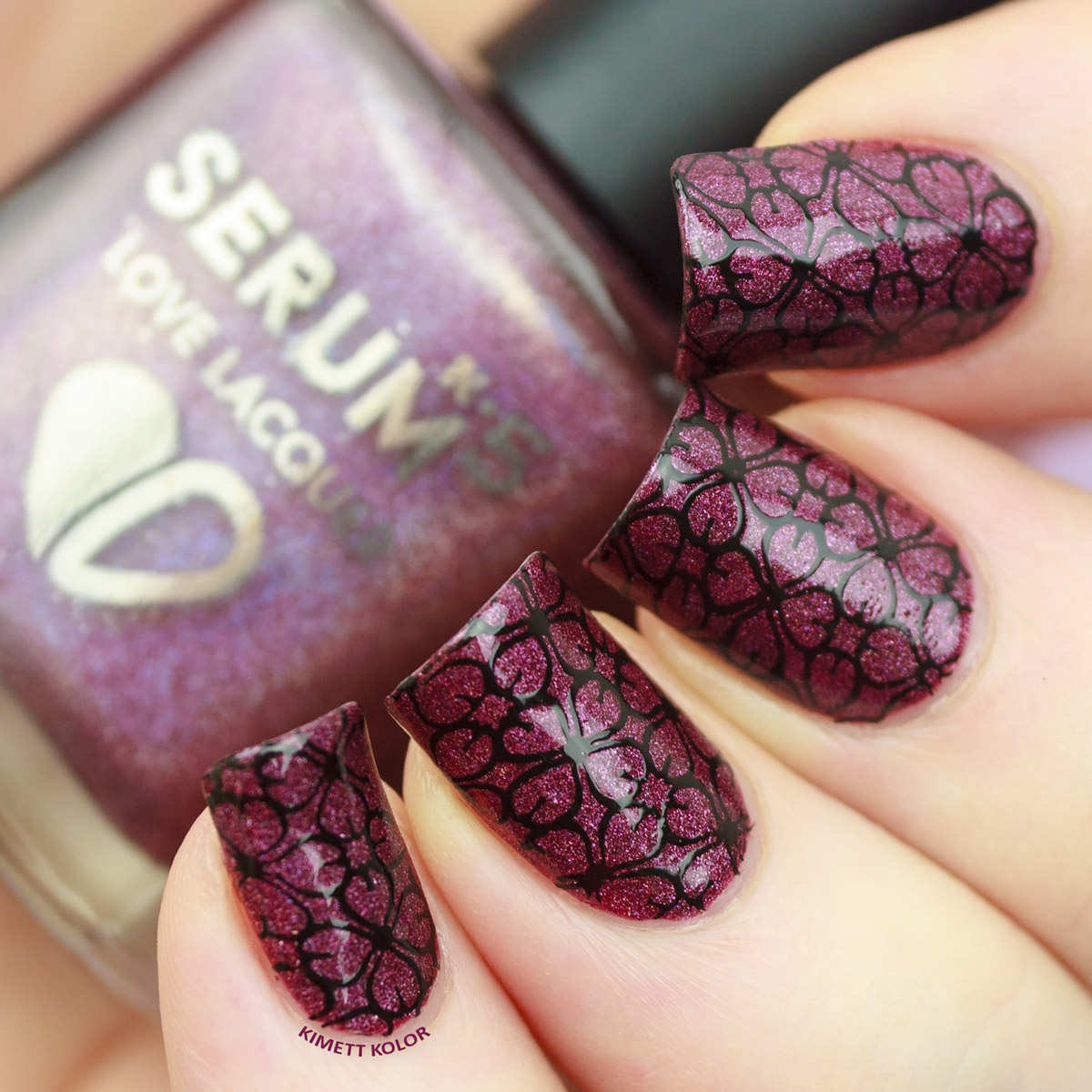 KimettKolor Simple Stamping Nail Art with Hit The Bottle and FabUrNails