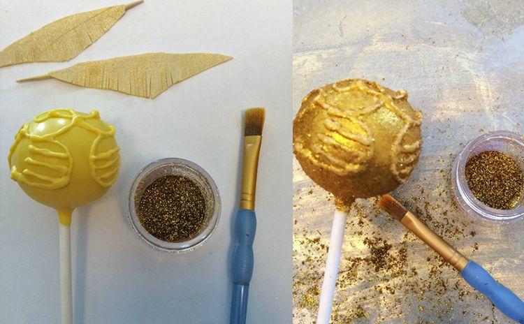 Golden Snitch Cake Pops Recipe