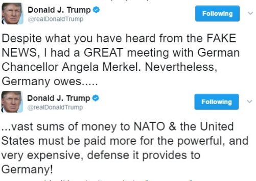 Angela Merkel, Donald Trump, Chancellor of Germany, President of the United States, White House, NATO, News, Foreign,