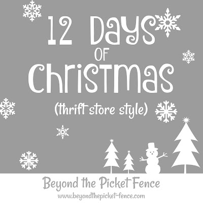 12 Days of Thrift Store Christmas Ideas
