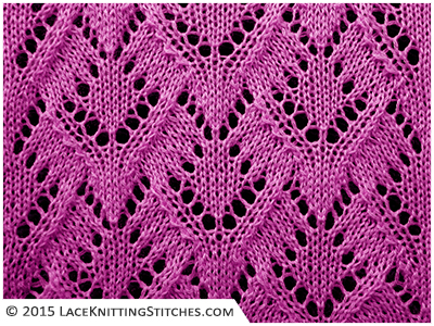 Lace knitting. Chart no.8 -  Multiple of 22 st + 1