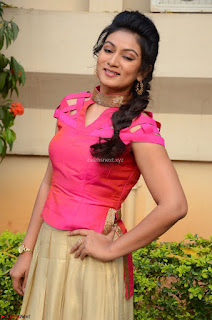Ashmita in Pink Top At Om Namo Venkatesaya Press MeetAt Om Namo Venkatesaya Press Meet (64).JPG