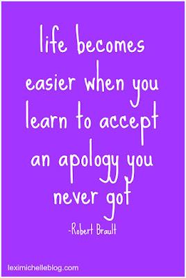 accept an apology you never got