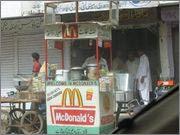 lustige Werbe Schilder McDonalds in Indien