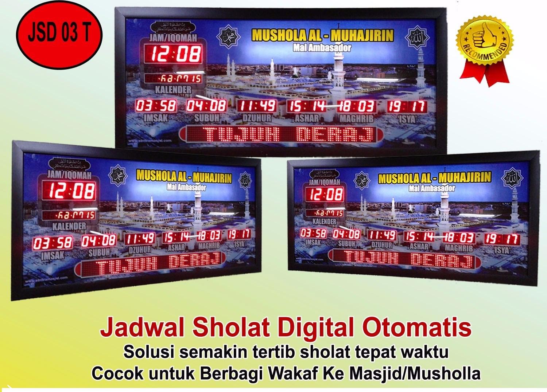 Toko Jam Jadwal Sholat Digital Masjid Pekanbaru | TELEPON ...