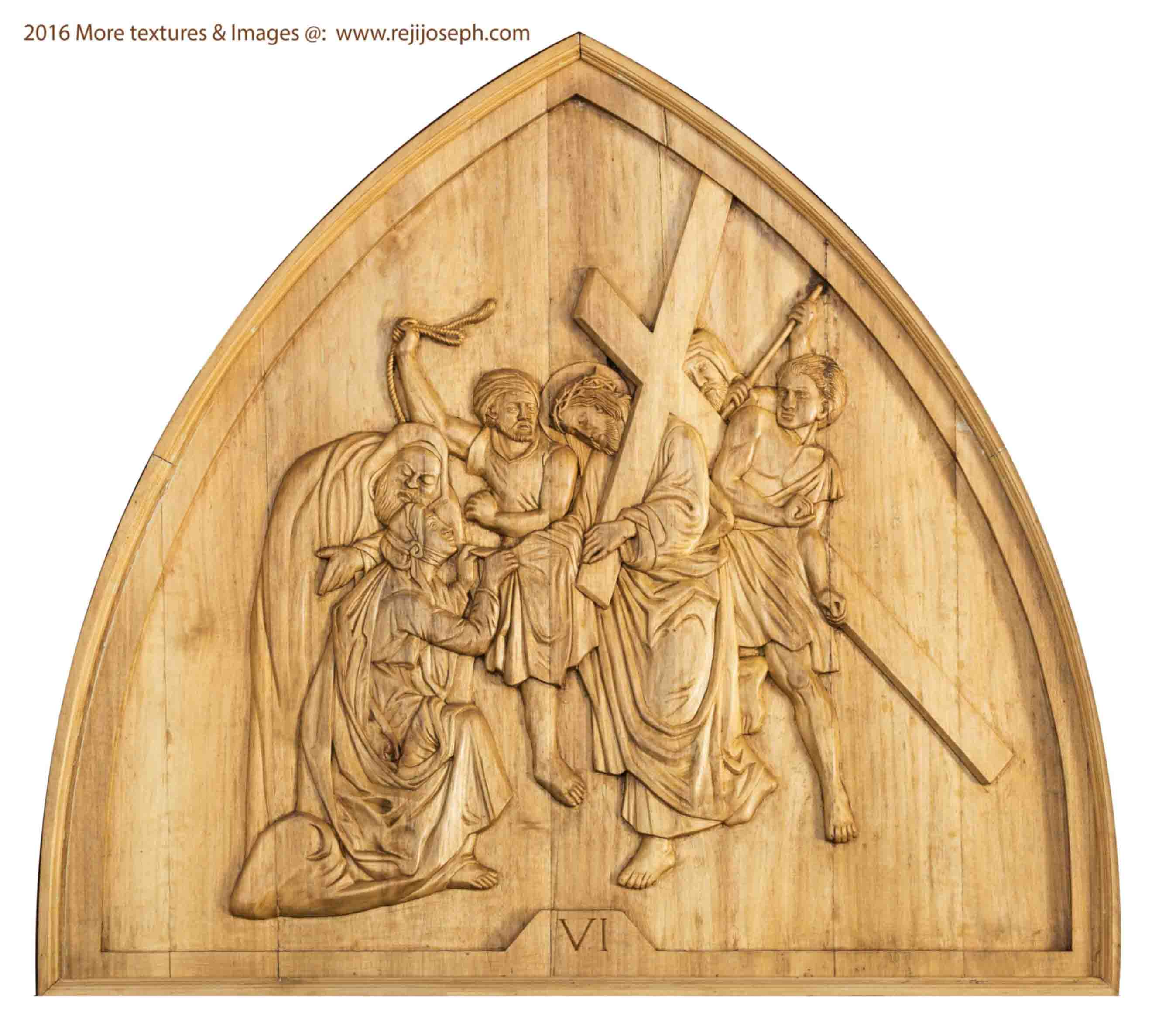 Way of the cross wooden relief 006
