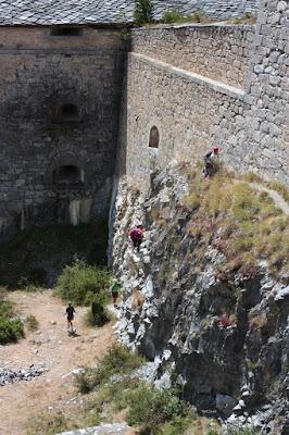 mur d'escalade du Fort Victor-Emmanuel en Savoie