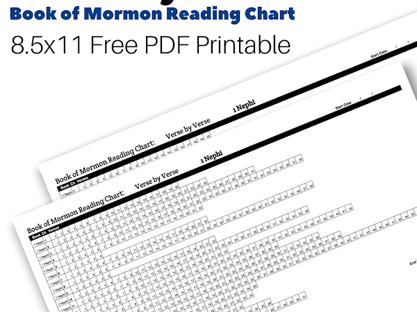 Kids Book of Mormon Reading Chart: 1st Nephi