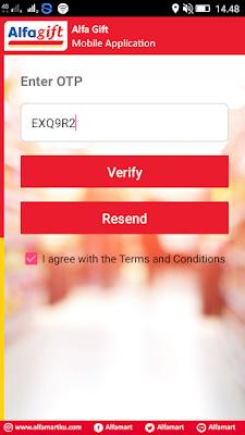 verifikasi nomor hp di aplikasi alfamart