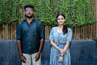 Keerthy Suresh in Blue Dress with Cute and Lovely Smile with a Fan 7
