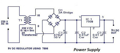 Circuit Diagram Of 9 Volt Power Supply - Data Wiring Diagram