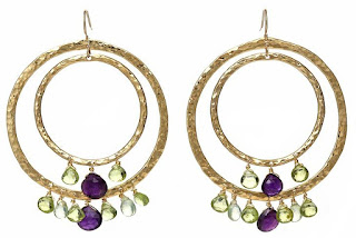 Oscar Jewelry: Summer hoop earrings