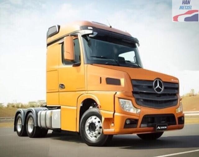 Assim seria o novo Mercedes-Benz Actros versão bicuda